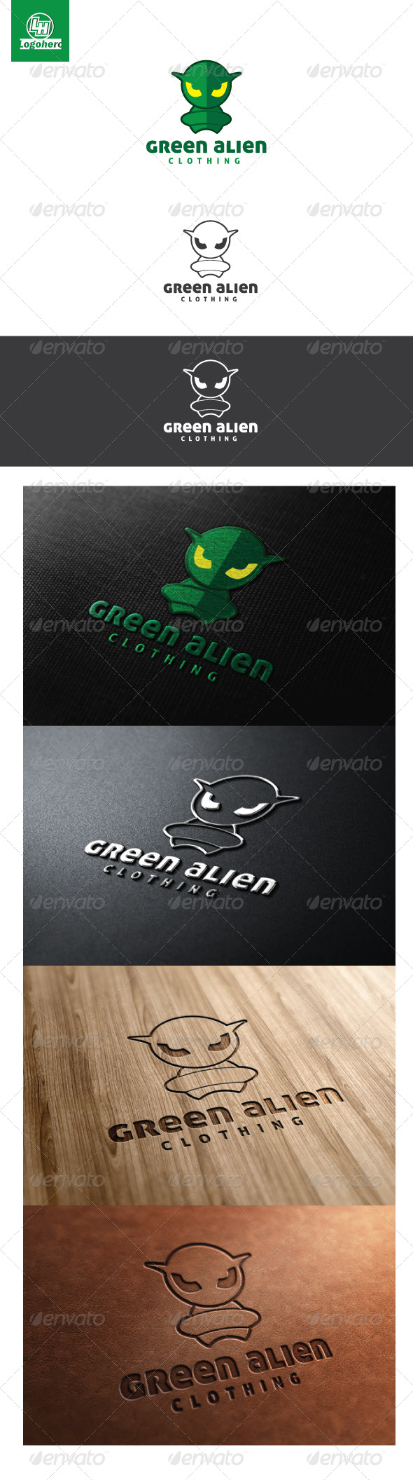 GraphicRiver Green Alien Logo Template 4603563