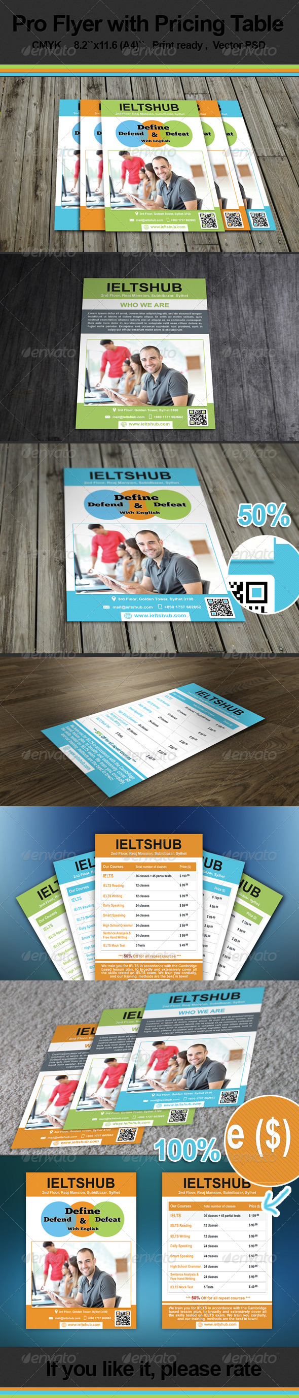 Pro Flyer with Pricing table