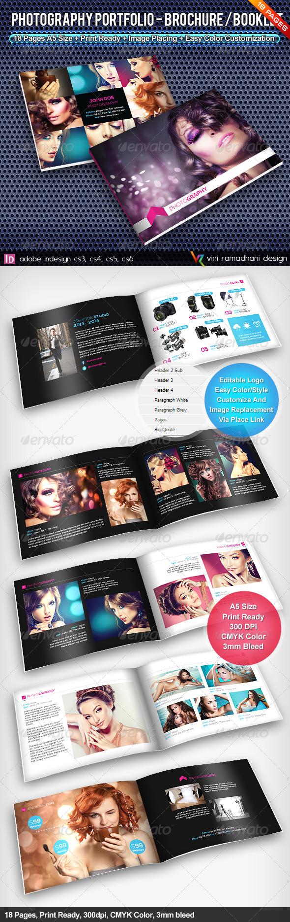 GraphicRiver Photography Portfolio Brochure Booklet 4526996