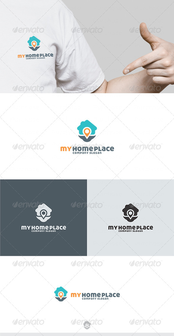 My Home Place Logo - Buildings Logo Templates
