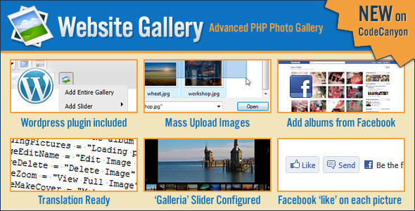 CodeCanyon Website Gallery with Slider & Facebook Support 465362