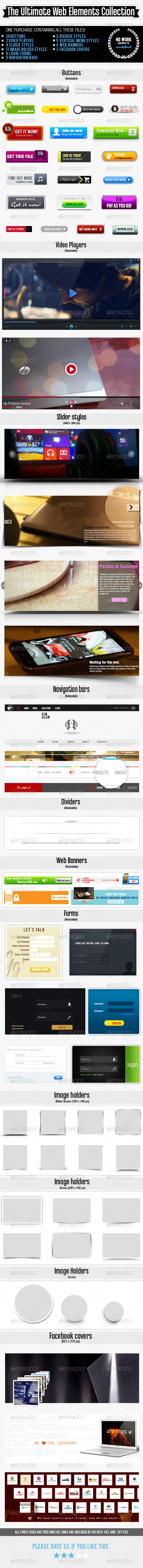 GraphicRiver Ultimate Web-Elements Collection 4569170