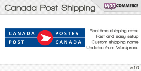 CodeCanyon Canada Post Shipping method for WooCommerce 4603882