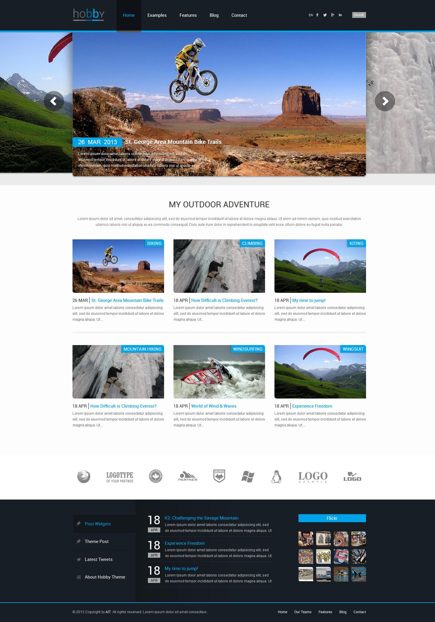 Hobby Personal Blog WordPress Theme