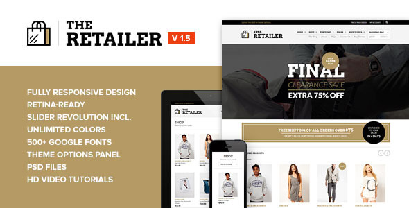 The Retailer - Retina Responsive WooCommerce Theme - ThemeForest Item for Sale