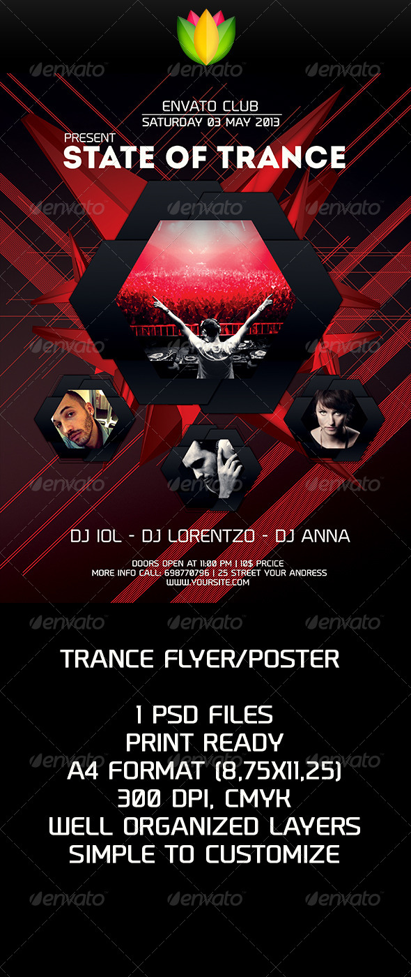 Trance Flyer V1 - Clubs & Parties Events