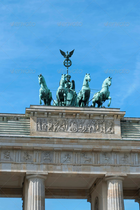 Brandenburg Gate Quadriga - Stock Photo - Images