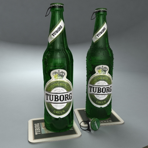 3DOcean Tuborg Green Beer Bottle 481479