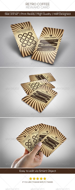 Retro Coffee Vip Card - Loyalty Cards Cards & Invites