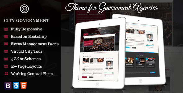 ThemeForest City Government Theme for Government Agencies 4558198