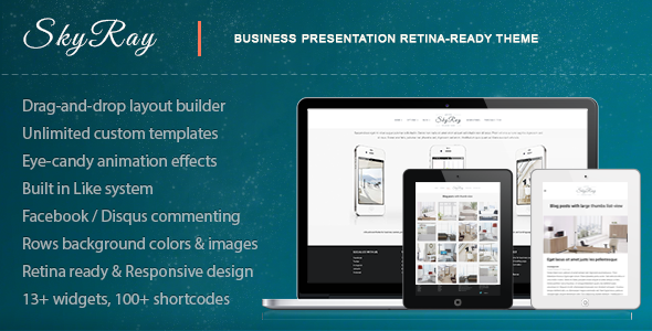 ThemeForest Skyray Business Presentation Retina Theme 4592977