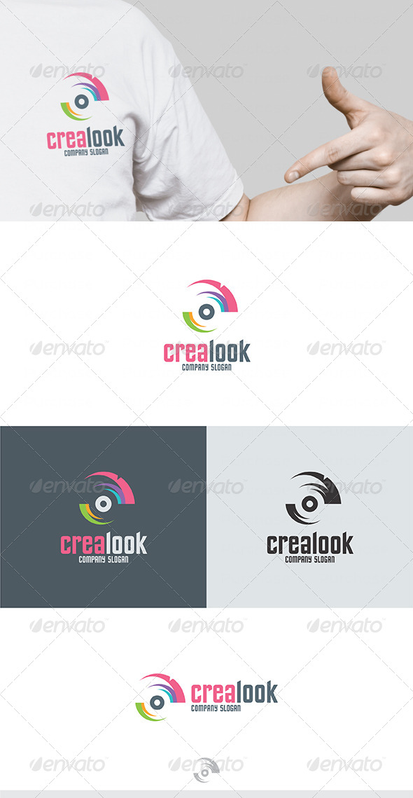 Crea Look Logo - Vector Abstract