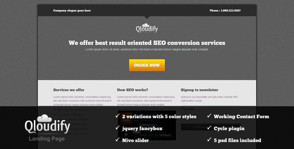 ThemeForest Qloudify Business Landing Page 480489