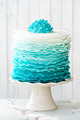 Ombre ruffle cake - PhotoDune Item for Sale