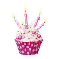 Pink birthday cupcake - PhotoDune Item for Sale