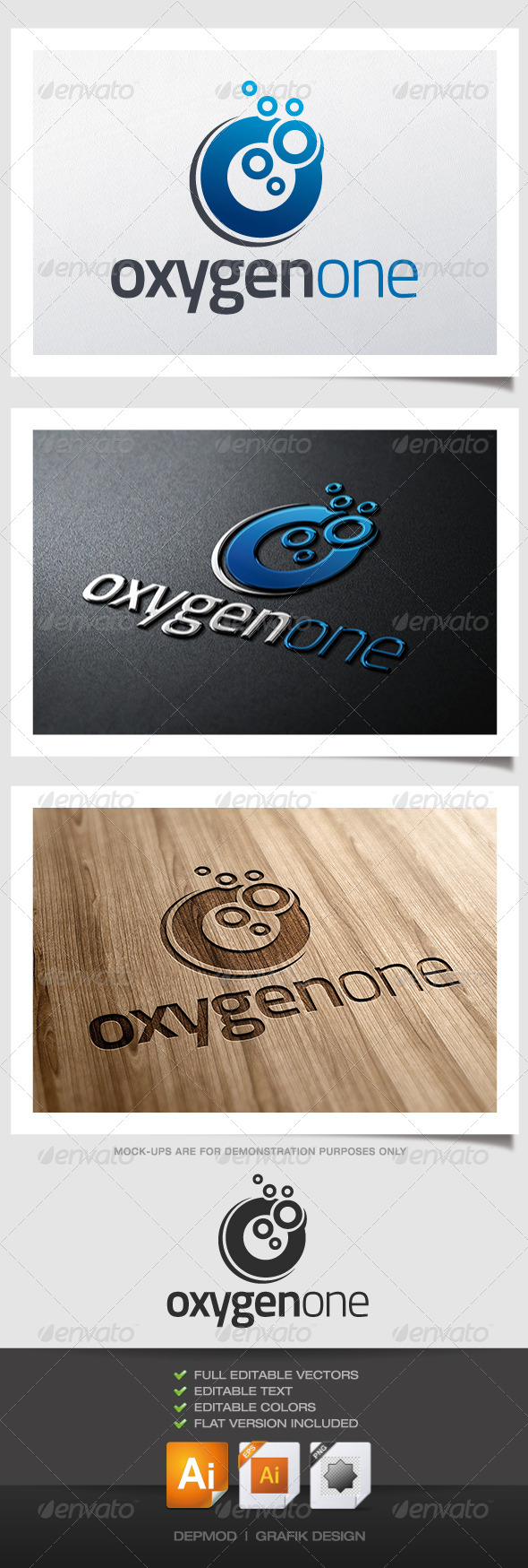 Oxygen One Logo - Letters Logo Templates