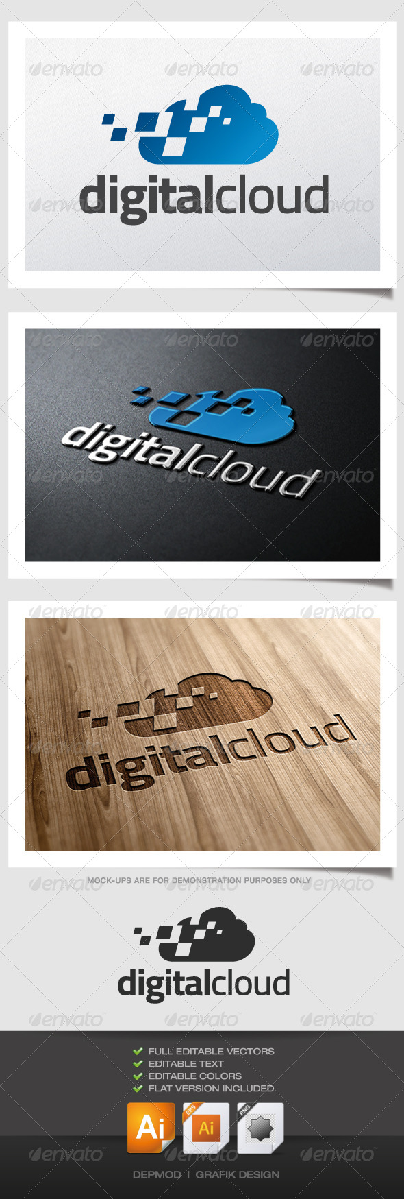 GraphicRiver Digital Cloud Logo 4604918