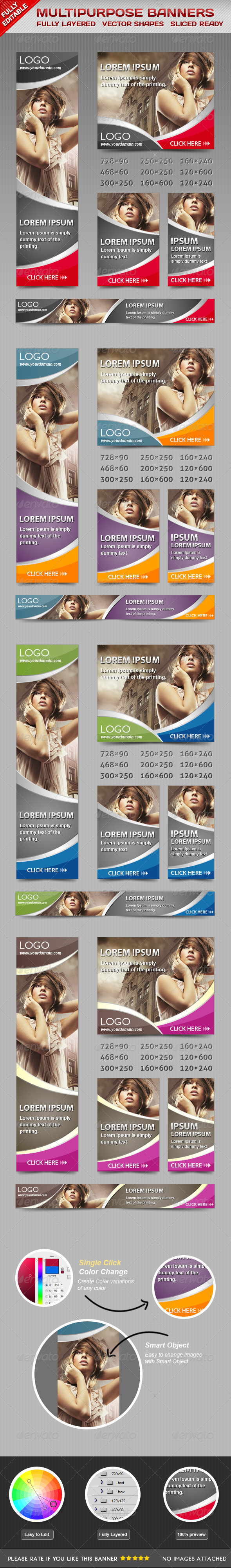GraphicRiver Multiporpose Glamorous Banners 4604960