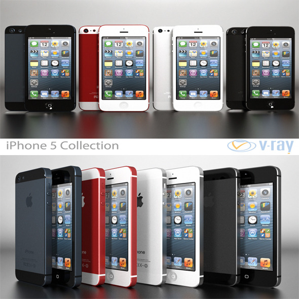 3DOcean Apple iPhone 5 Collection 4604995