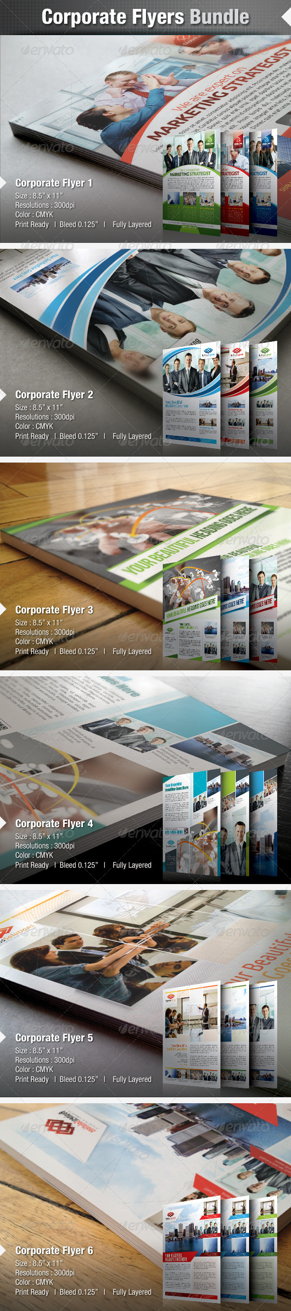 GraphicRiver Corporate Business Flyer Bundle 4605000