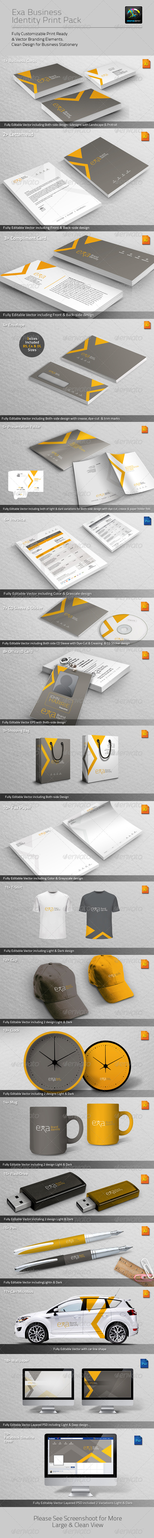 GraphicRiver Exa Business Identity Print Pack 4605124
