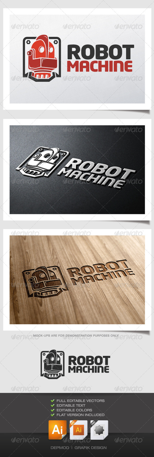 Robot Machine Logo - Objects Logo Templates