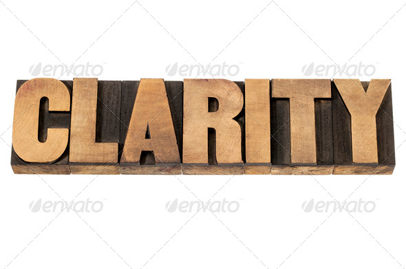 clarity in wood type - Stock Photo - Images