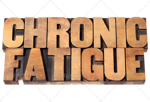 chronic fatigue in wood type - Stock Photo - Images