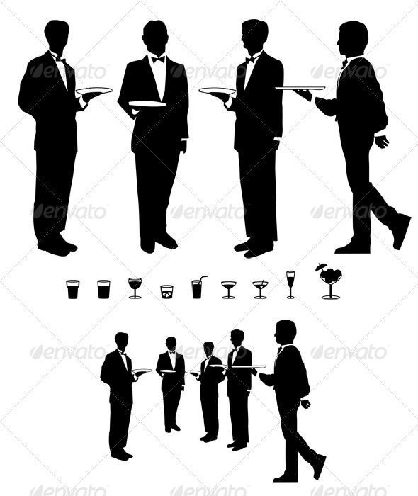 GraphicRiver Graphic Waiter and Drinks 4605296