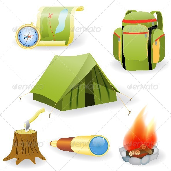 GraphicRiver Camping Collection 4605379