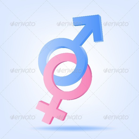 GraphicRiver Pink and Blue Symbols of Mars and Venus 4605403
