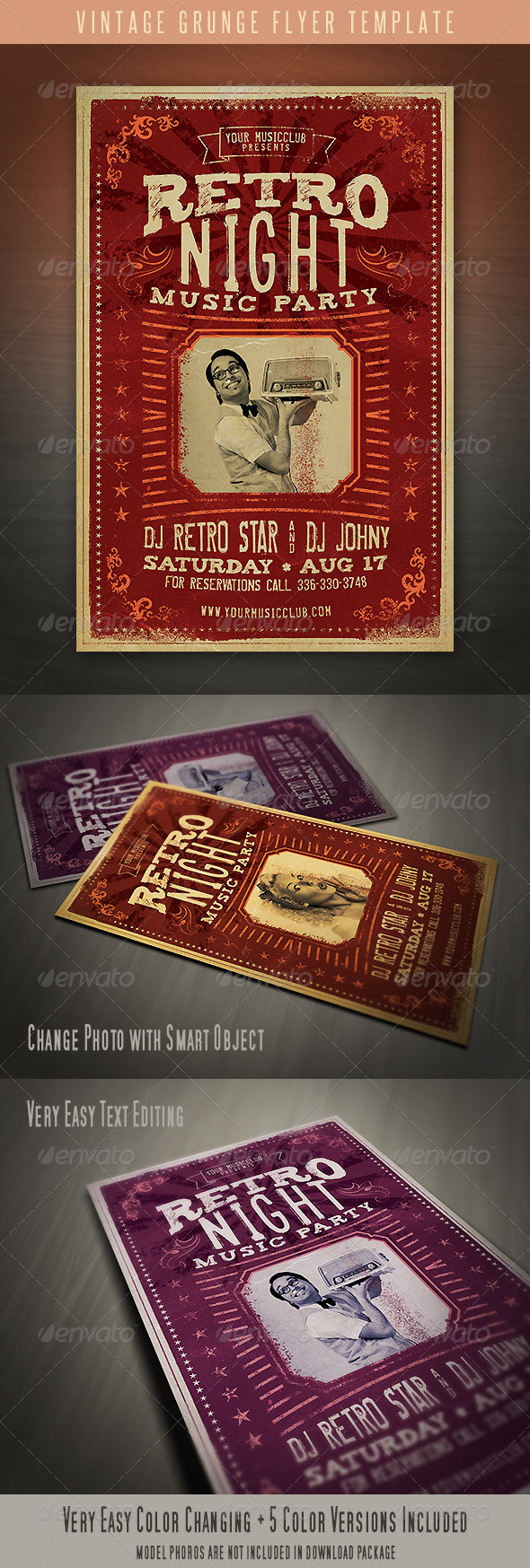 GraphicRiver Vintage Grunge Flyer 4605437