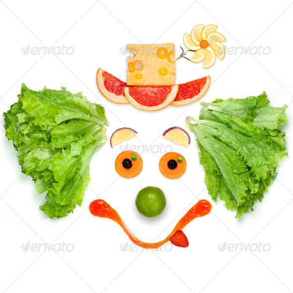 The friendly food the friendly mood. - Stock Photo - Images