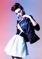 beautiful woman dressed elegant punk posing in the studio - PhotoDune Item for Sale