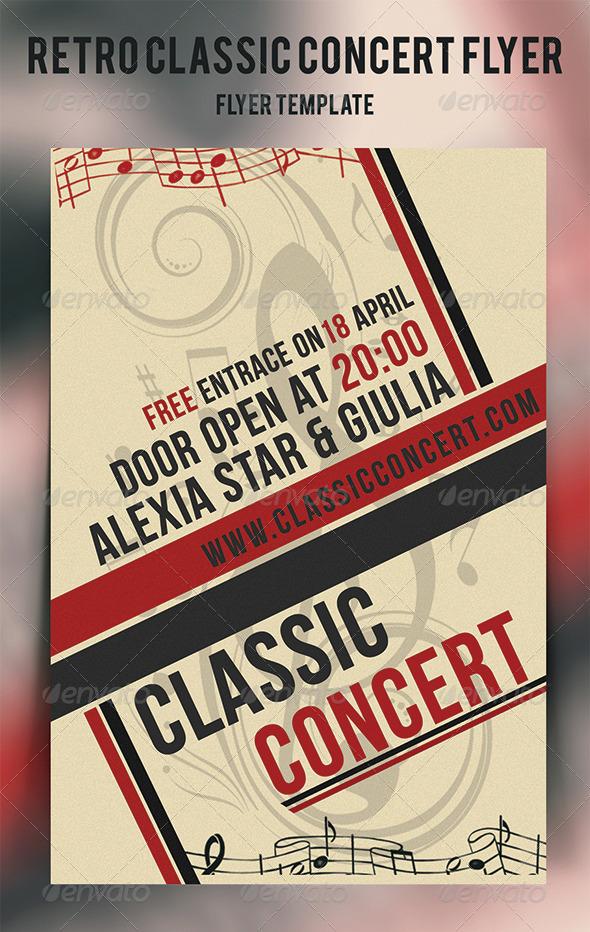 GraphicRiver Retro Classic Concert Flyer 4426654