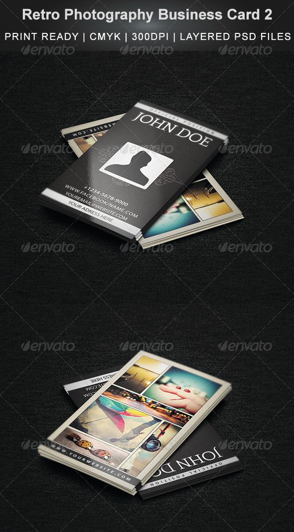 Retro Photography Business Card 2
