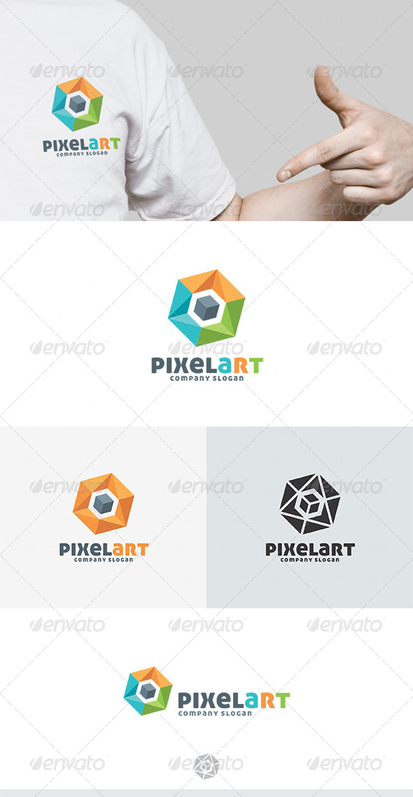 Pixel Art Logo - Vector Abstract