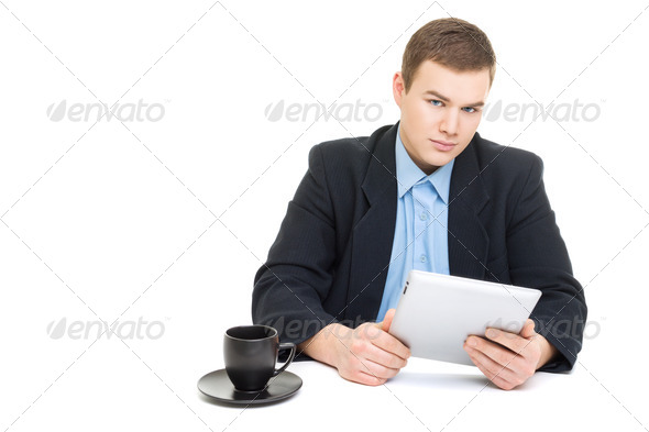 Young businessman at work - Stock Photo - Images