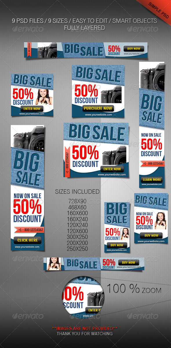 GraphicRiver Web Banner Set Product Or Software Marketing 4431618