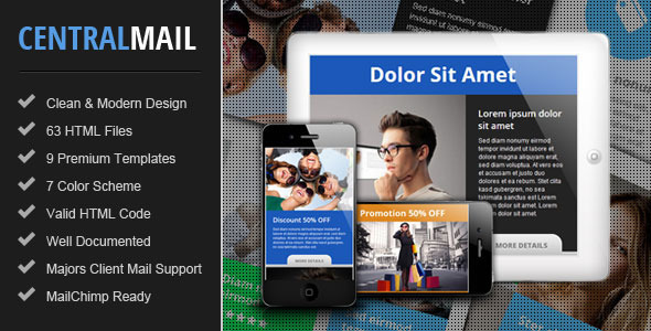 ThemeForest Central Responsive Email Newsletter Template 4607059