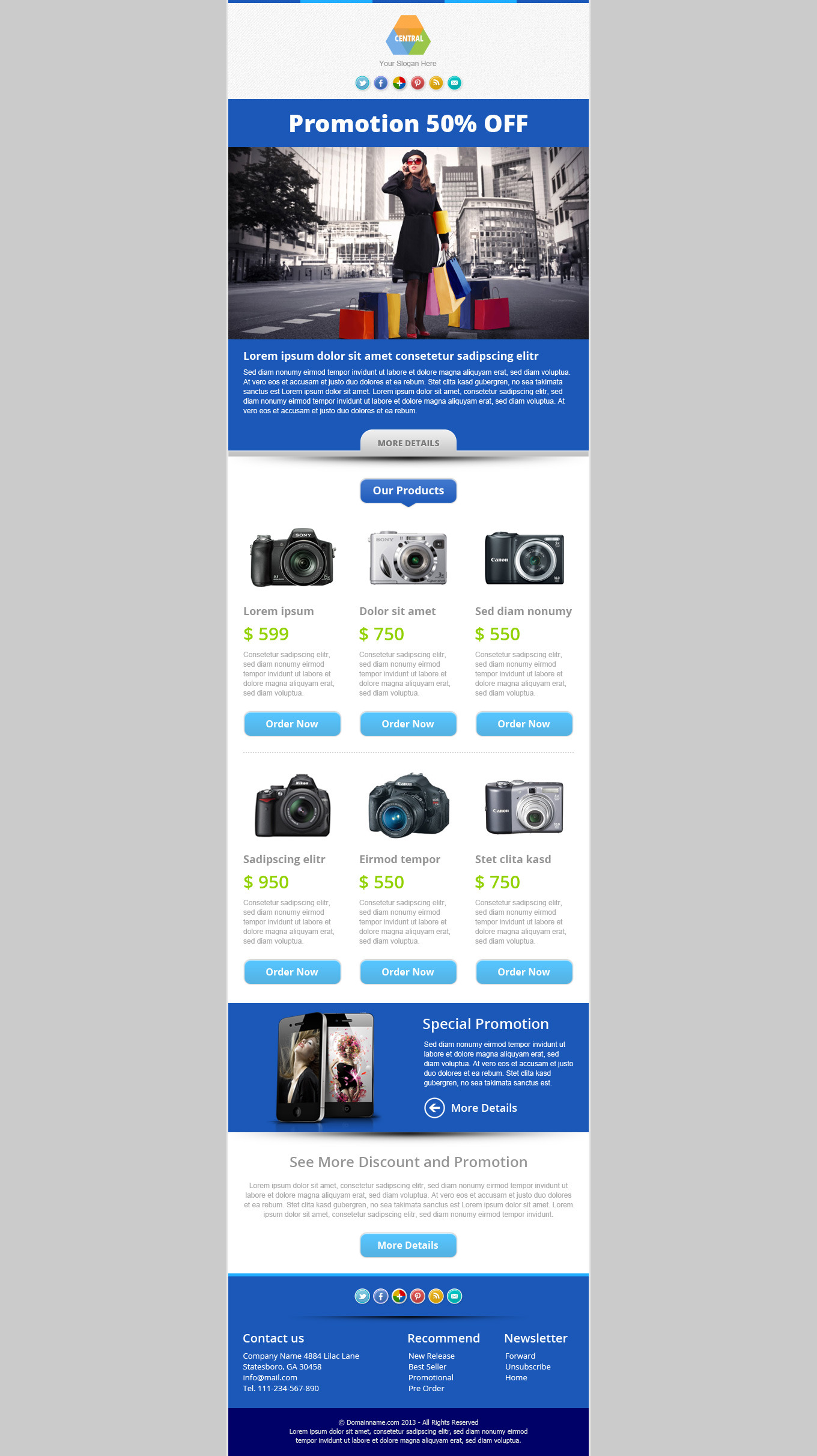 Central - Responsive Email Newsletter Template