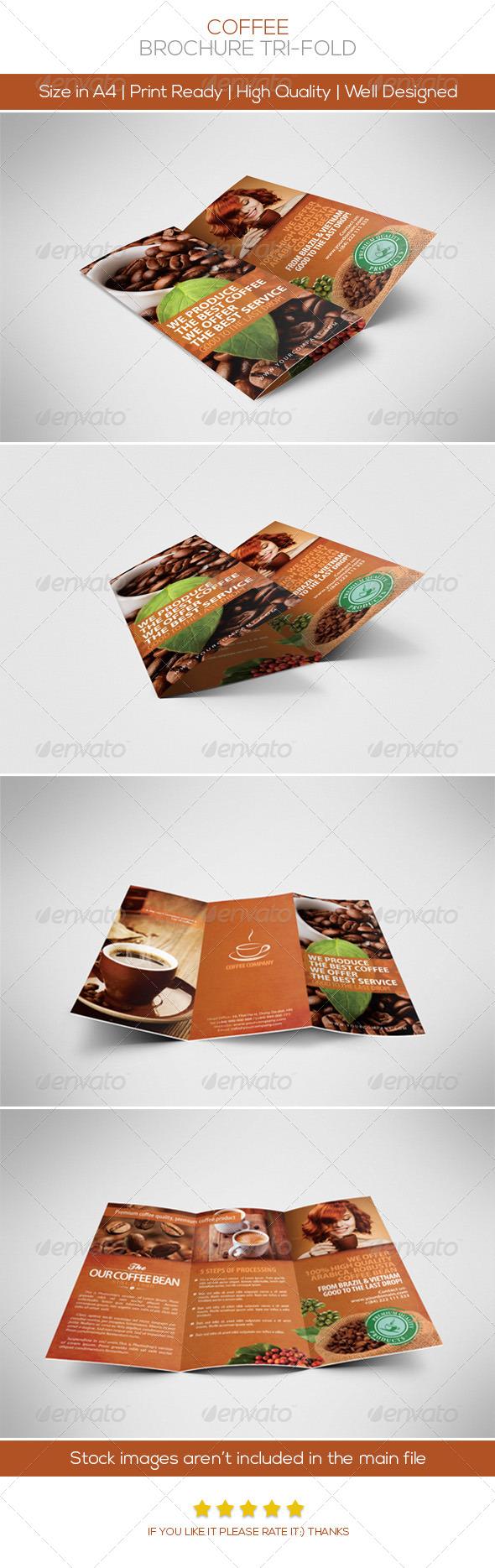 Coffee Brochure Tri-fold - Brochures Print Templates