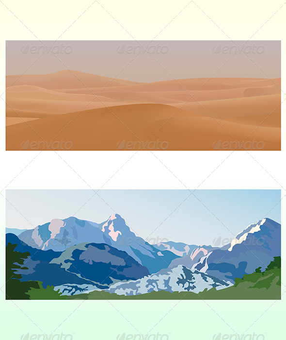 GraphicRiver Mountain and Desert Landscapes 4608096