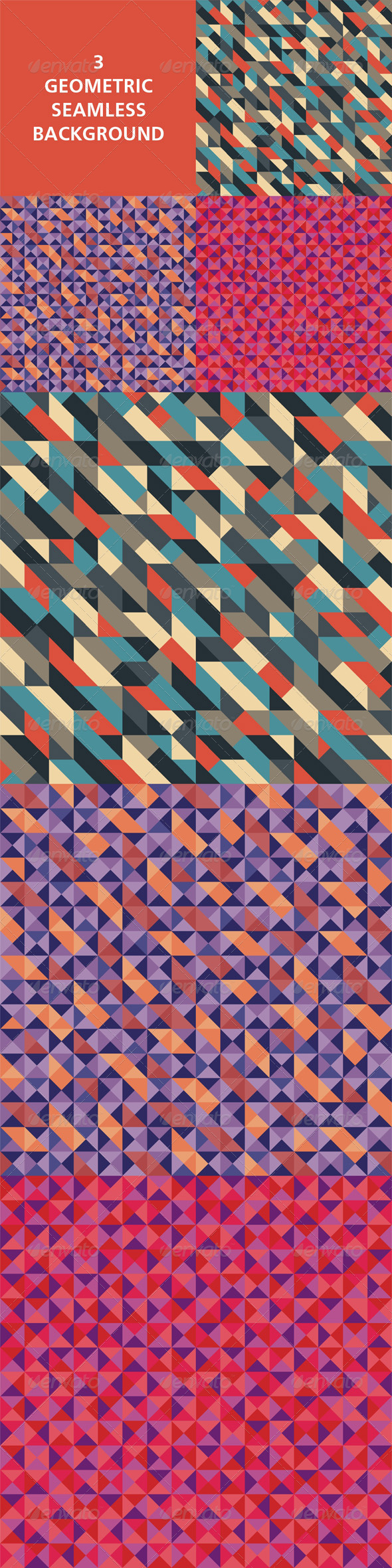 Geometric Seamless Background 02 - Backgrounds Decorative