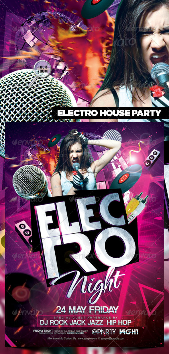 GraphicRiver Electro House Party Flyer 4495518