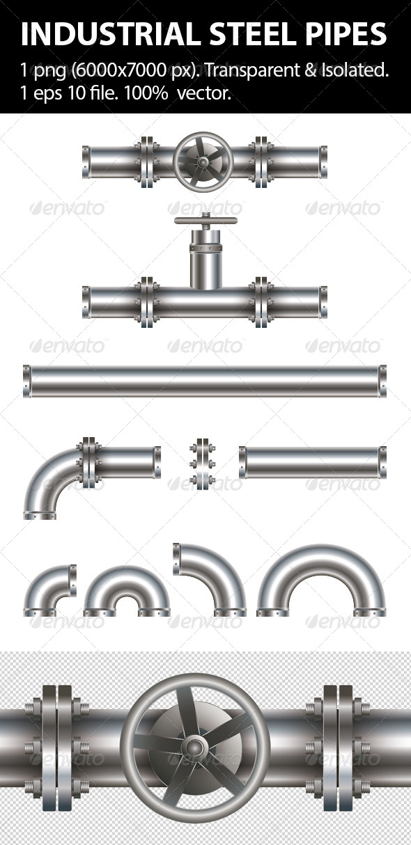GraphicRiver Industrial Steel Pipes 4608275