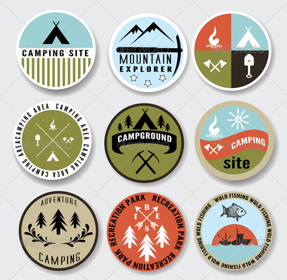 GraphicRiver Camping Badges Set 4573092