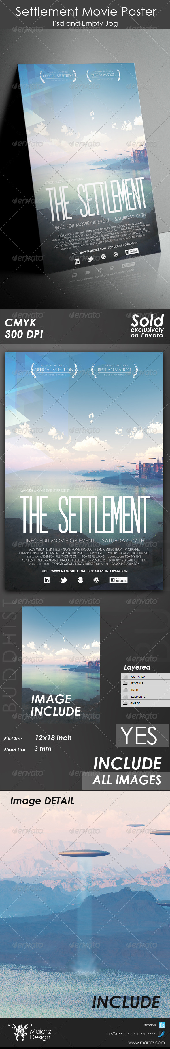 GraphicRiver Settlement Movie Poster 4608479