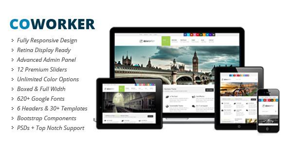 CoWorker | Responsive Retina Multi-Purpose Theme - Corporate WordPress