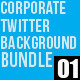 Corporate Twitter Background Bundle 01 - GraphicRiver Item for Sale
